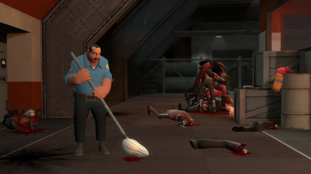 Gmod - Meet the janitor by marios1999