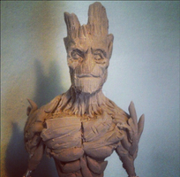 Groot figure by Claysculpture