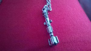 Sonic Screwdriver Necklace by GallifreyGirl1