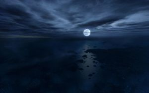 Moon Over Water by ProfessorPwnage