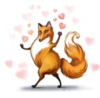 Fox love by LouieLorry