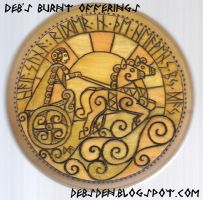 Sunna Round Plaque by DebsDen