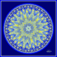 Blue Mandala by baba49