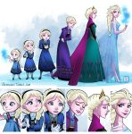 Elsa Evolution by Berelince