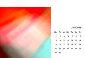 abstract 2009 - calendar 06 by 2-03