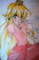 Princess Peach : D by chocolatecomet