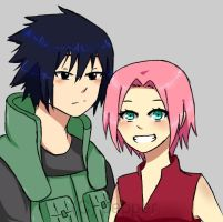 sasusaku by pepperlicious
