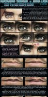 T2 Eye Area and Mouth by ellastasia