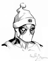 Deadpool with a hat by ReillyBrown