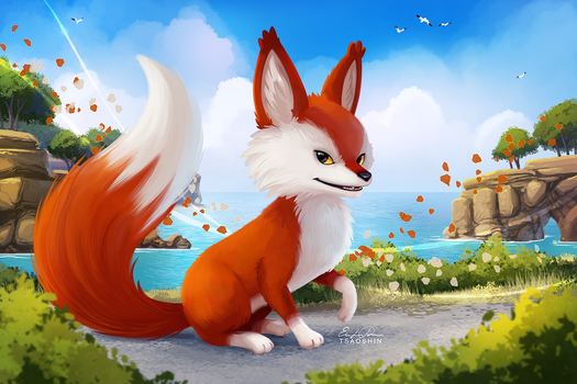 RiME Fox - Paint Along by TsaoShin