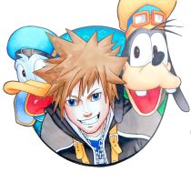 Sora, Donald and Goofy by JarOfLooseScrews