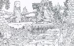 Tomb of the Knight: Pencil version by gaucelm