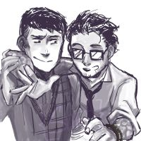 Hermann and Newt by VillainsDefiant