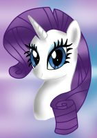 Rarity Portait by MarshmallowWithChoco