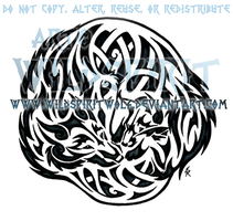 Wolf And Fox Celtic Tattoo by WildSpiritWolf
