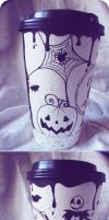 Nightmare before Christmas cup by carrotsweetpie