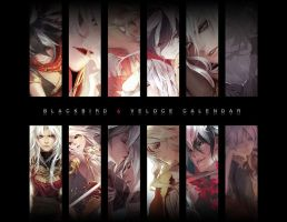 Blackbird and Veloce Calendar by shilin