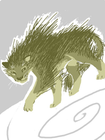 Porcupine Cat by PineappleSodaCat