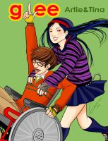 Glee Artie and Tina by Romax25