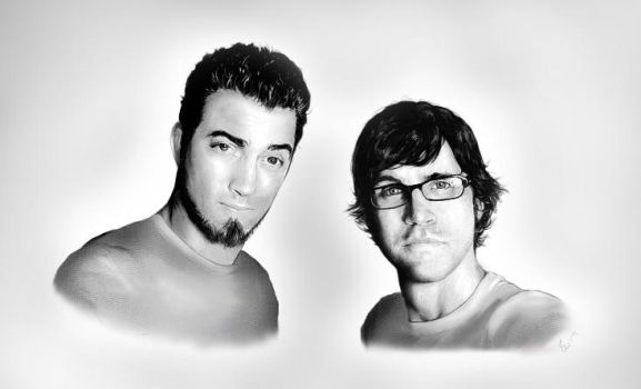 Rhett and Link by Dextria