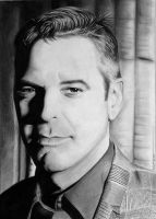 George Clooney 2012 Drawing by donchild