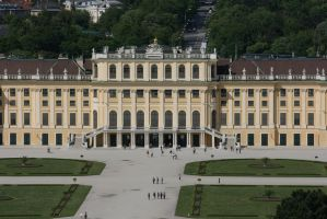 view to castle Schoenbrunn 6 by ingeline-art