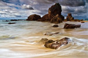 Isolated beach by KTCronin