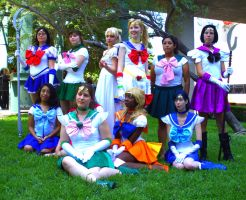 A-kon 2010 Sailor Scouts by Loverofpiggies