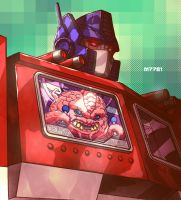 optimus prime x krang by m7781