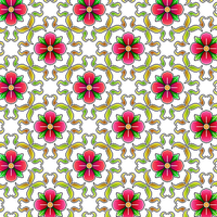 Crimson Flower Pattern by Humble-Novice