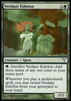 Verdant Eidolon Card by Fergtron