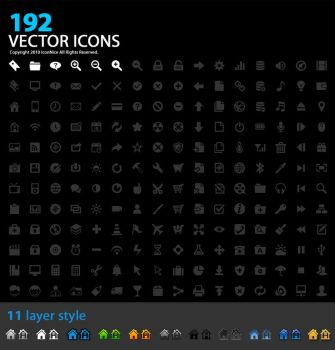 192 Vector Icons by iconnice