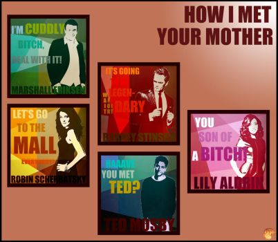 HOW I MET YOUR MOTHER :  WALL by Ynnck