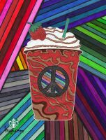 Psychedelic Frappuccino by FriendlyButterfly