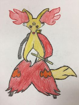 Tad the Delphox by Thunderus-the-Wolf