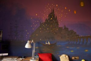 Tangled wall painting by dinamata