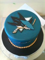 San Jose Sharks Cake by Spudnuts