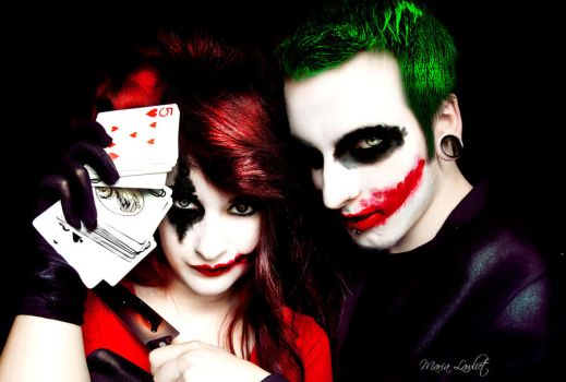 The Joker and Harley Quinn by MariaLawliet