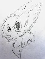charcoal headshot wip by XNeonFeather