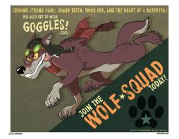Animal Propaganda - Wolf Squad by marymouse