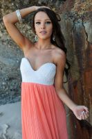 Annali - orange and white dress 8 by wildplaces