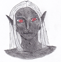 Mazarun - face of a drow by RilwenShadowflame