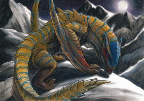 Monster Hunter - Tigrex, King of the mountain by Amayensis