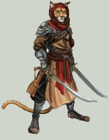 Arabian Cat Warrior - Medieval Era by TheLivingShadow