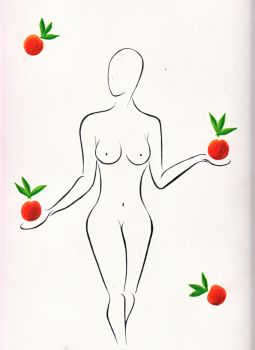 Nude With Oranges by Malekih
