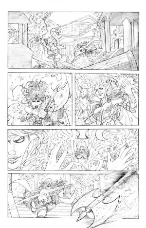 Wonder Woman vs. Circe Pencils