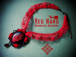 Red Hand choker by Verope