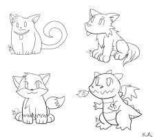 Cute lineart pack by Otackoon