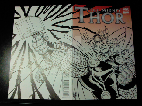 The Mighty Thor #1 Sketch Cover Artwork by Tim-Dzon