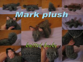 Mark knitted plush by fluffylovey